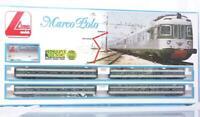 """VERY RARE LIMA 106512 HO - ITALIAN FS CLASS Ale 601 """"MARCO POLO"""" EMU 4 CAR SET"""