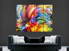 RAINBOW TRIPPY ABSTRACT ART BRIGHT COLOURS COLOURFUL GIANT LARGE WALL ART