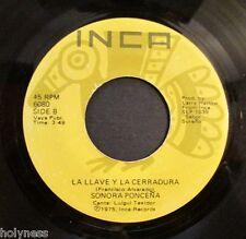 SONORA PONCENA / LA LLAVE Y LA CERRADURA / LAS MUJERES SON DE AZUCAR / 45 RPM NM