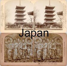18 STEREOFOTOS ÜBER JAPAN TOKYO TOKIO UM 1900 Serie 6