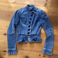 Marc Jacobs fitted peplum blue Denim Jacket Vintage RARE Made In USA Size 2