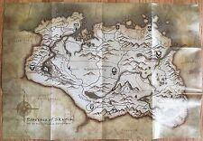 Pre-folded Elder Scrolls V Skyrim Map from game