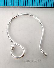 4x STERLING SILVER EARRINGS FRENCH HOOK 0.9mm 19GA EAR WIRE #279