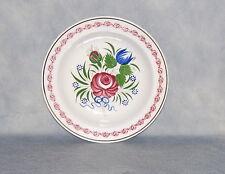 Antique Creamware Sarreguemines Spongeware Plate French