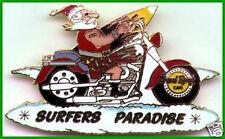 Hard Rock Cafe SURFERS PARADISE 2000 CHRISTMAS PIN Xmas Santa on Harley