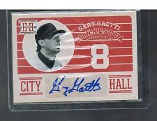 2013 panini Hometown Heroes signatures City Hall GARY GAETTI #CHGG AUTO TWINS