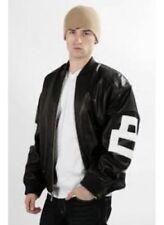 8 Ball Leather Jacket Bomber Style Black Leather Jacket