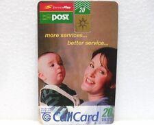 "SCHEDA TELEFONICA IRLANDA-""SERVICE PLUS-POST""-Call Card-20 units-TELECOM EIREANN"