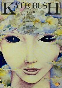 "Reproduction Alternate ""Kate Bush - 1979 Tour"" Poster, Rock, Size A2"