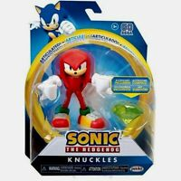 "Jakks Pacific SONIC THE HEDGEHOG 4"" KNUCKLES Action Figure Sega w/ Chaos Emerald"