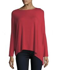 $165 Majestic Paris Neiman Marcus Long Sleeve Asymmetric Red Tee Size 3 (Medium)
