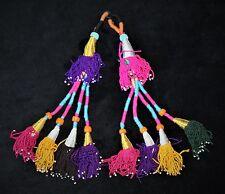 Tribal Quasten, Tribal Tassels, Turkmenische Handgefertigte ATS Tribal Quasten,