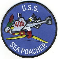 USS Sea Poacher SS 406 - Fishsub with Bow & Torp feath - BCPatch - Cat No  C5533