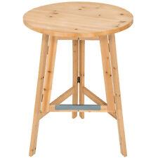 Tavolo alto bar in legno bistrot giardino rotondo tavolino esterno pieghevole