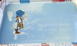 Vtg Holly Hobbie Metal TV Tray 1974 Happiness is sharing with someone you love
