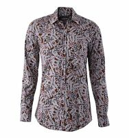 DOLCE & GABBANA GOLD RUNWAY Playing Cards Printed Cotton Shirt Beige Brown 04800
