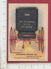 C297 Cortland Wagon metamorphic trade card Cortland, NY