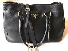 bd60d530cd00 Prada Pebbled Leather Med/Large Tote Doctor's Bag Handbag Pre-loved