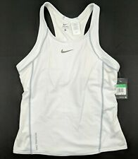 Nike Womens Triathlon Tri Top Shirt Tank White 712743 Sz Large MSRP $82.00