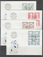 Switzerland Mi 1146/1164, 1979  issues, 5 cplt sets of blocks on 15 FDCs