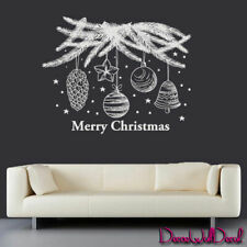 Wall Decals Tree Holiday Decoration Merry Christmas Decoration Snowflakes M1621