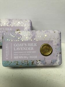 """Castelbel Goats Milk """" LAVENDER """" Bar Soap Made In Portugal Lot Of 2 NEW"""