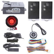 Hands-free PKE car alarm remote start push start button passive keyless entry