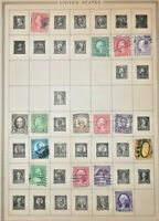 CatalinaStamps:  US Stamp Lot, 955 US Stamps on Pages, Lot E