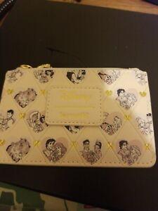 Loungefly Disney Princess Couples Heart ID Zip Zipper Cardholder Wallet NEW