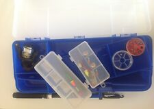 FISHING KIT TELESCOPIC ROD / REEL+LINES +ACCESSORIES + CARRY TACKLE BOX X 2