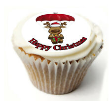Cupcake Topper Christmas personalised Rice, Icing sheet 917