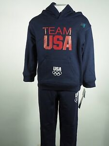 New Team USA Olympic Toddler Size Sweatshirt & Sweatpants Combo Set Free Ship
