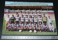 CLIPPING POSTER FOOTBALL 1985-1986 D2 FC TOURS VALLEE-DU-CHER