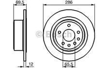 BOSCH Juego de 2 discos freno 286mm OPEL OMEGA VAUXHALL 0 986 478 609