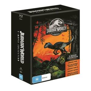 """JURASSIC PARK COMPLETE COLLECTION BOX SET 5 DISCS BLU-RAY RB AUS """"NEW&SEALED"""""""
