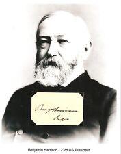 Benjamin Harrison Autograph President Ben J Senator Indiana Civil War Colonel