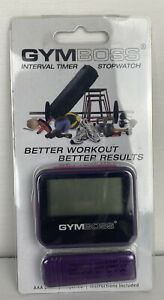Gymboss Interval Timer and Stopwatch - VIOLET/PINK METALLIC GLOSS Crossfit - MMA