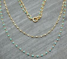Silver 22k Yellow Gold Plated,Turquoise Gemstone Handmade Necklaces