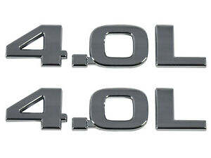 2 New 4.0L Liftgate Tailgate Hatch Badge Emblem Nameplate Symbols 55157216