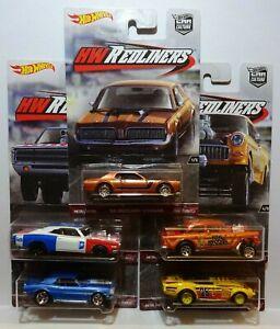 Hot Wheels Car Culture HW REDLINERS SET of 5. CHEVY GASSER, DODGE etc. See PICS!