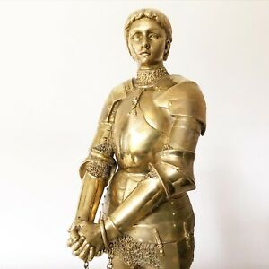 Antique Gilt Bronze Of Joan Of Arc By E Barrias And Susse Frères Jeanne D'Arc