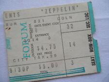 LED ZEPPELIN Original__1971__CONCERT TICKET STUB__ Los Angeles Forum