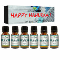 Premium Grade Fragrance Oil- Happy Hanukkah- Gift Set 6/10ml for Diffuser, Body