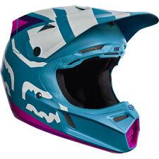 YOUTH FOX V3 CREO MOTOCROSS MX HELMET - TEAL kids quad bike bmx MIPS