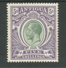 ANTIGUA SG51 THE 1913 GVI 5/- GREY GREEN & VIOLET VERY FRESH MINT CAT £95