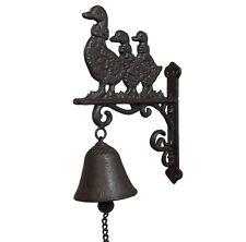 style ancienne cloche sonnette d entrée de porte portail en fonte oiseau 24cm