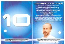 Thunderbirds Are Go The Movie Redeemed Autograph Redemption Card #10