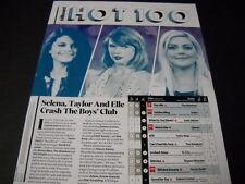 TAYLOR SWIFT Ellie Goulding SELENA GOMEZ Crash Boys Club 2015 PROMO DISPLAY PAGE