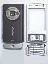 Silver Fascia Faceplate Cover Housing facia case for nokia N95 plum