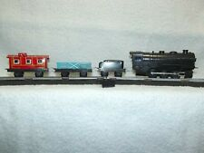 VINTAGE MARX S SCALE BATTERY OPERATED FOUR PIECE STEAM TRAIN SET TESTED/WORKING